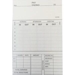 BS1-7 Weekly Clock Card