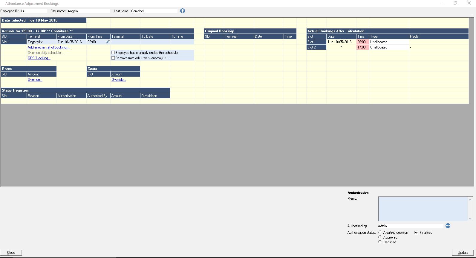 Attendance Adjustments