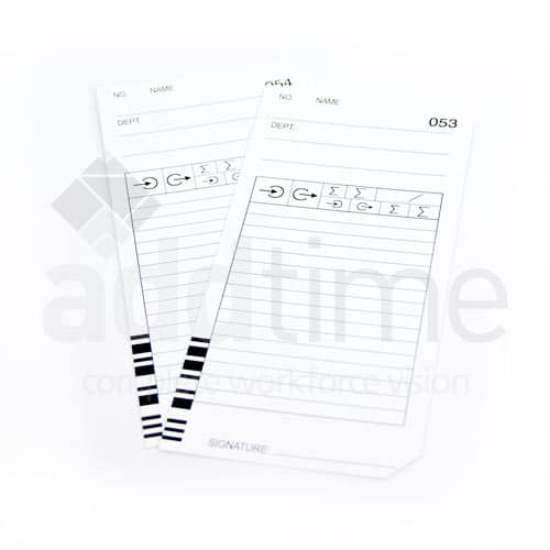 QR 375 Clock Cards
