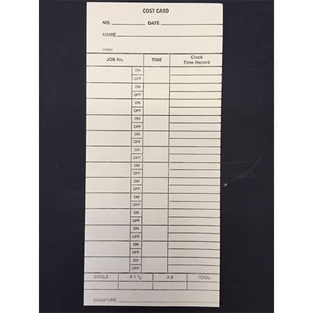 product_0009_Job Cost Card