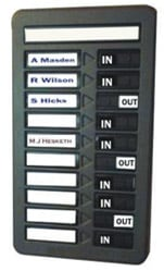 old-style-manual-attendance-display-panel
