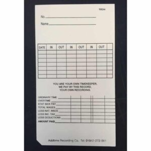 Maruzen ATR-701 Weekly Clock Cards